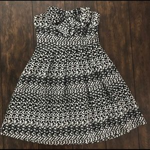 Anthropologie Black & Silver Strapless Bow Dress